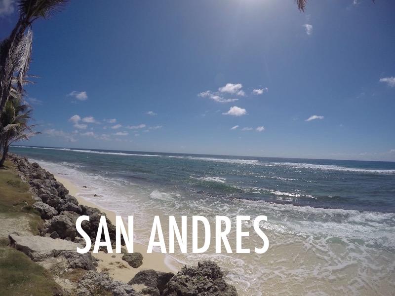 SAN ANDRÉS E O SEU MAR DE 7 CORES