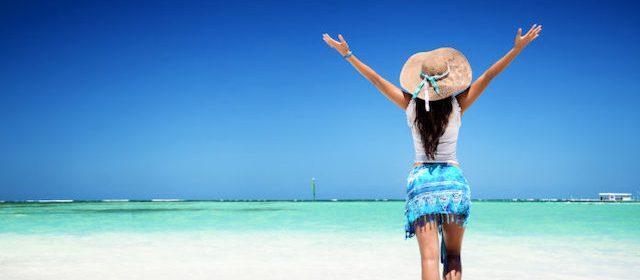 PUNTA CANA: azul turquesa no mar e azul celeste no céu